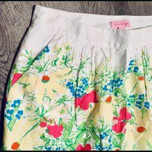 Lilly Pulitzer Lined Skirt Side Zipper Pockets